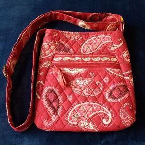 Vera Bradly Mesa Red Paisley Crossbody Bag